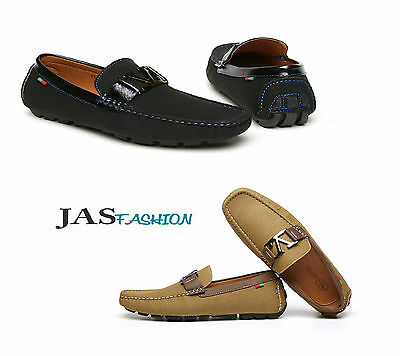 d59bd7803ada Mens Slip On Loafers Boat Deck Shoes Smart Casual Dress Driving Fashion  Style UK