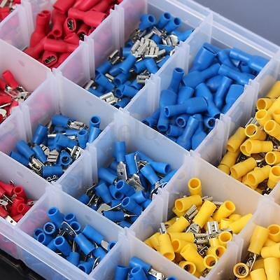 Soloop 900Pcs Insulated Electrical Wire Terminal Crimp Connector Spade Set Kit