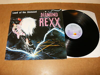 Diamond Rexx : Land Of The Damned - Germany Lp - Island 208 165 - 1986