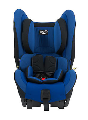 NEW Babylove EZY SWITCH EP Car seat BLUE Baby booster safety outing 0 to 4 years