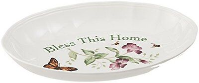 """Lenox Butterfly Meadow """"Bless This Home"""" Tray, New, Free Shipping"""