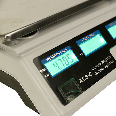 Digital Weight Scale Price Computing Retail Food Scales Count Scale 66Lbs