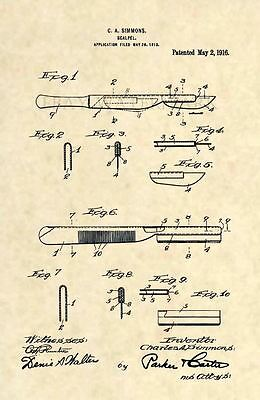 Official Scalpel US Patent Art Print-Vintage Antique Doctor Surgeon Medical 210