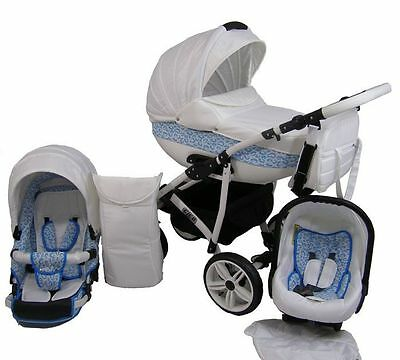 Cleo Pram For Child Stroller Pushchair + Car seat 3in1 NEW 17 Colors