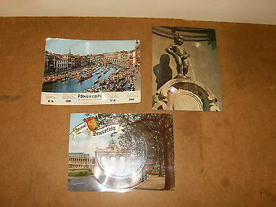 3 anciens Phonoscopes, cartes musicales - MANNEKEN-PIS + BRUXELLES + VENISE