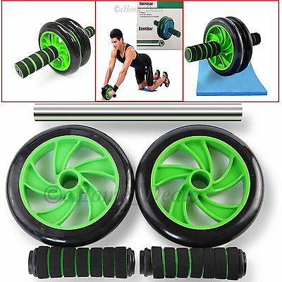 2016 Abs Abdominal Workout Exercise Wheel Roller Gym Strength Training+Knee Mat