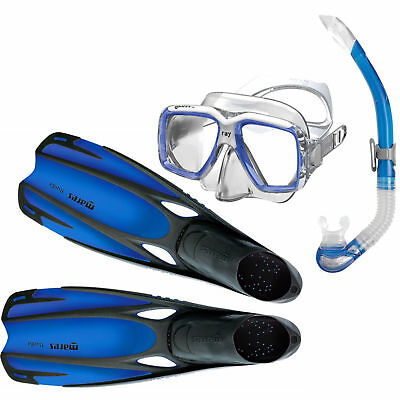 SILICONE Mask Fins Snorkel Set Combo Package - Travel Holidays Beach Value Deal
