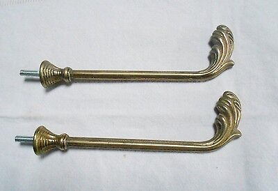 PAIR Old french gilded STYLISH Tie backs Hooks  Hangers