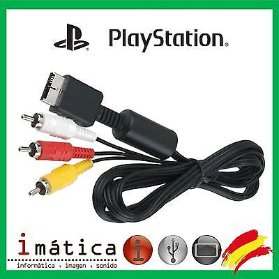 Cable Video Para Sony Play Station 1 2 3 Psx Ps1 Ps2 Ps3 Av Tv Audio Rca 3Rca