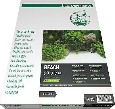 Dennerle Plantahunter Natural Aquascaping Sand Superfine Beach 0.1-0.6mm NEW 5kg