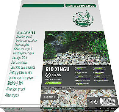 Dennerle Plantahunter Natural Aquascaping Gravel Rio Xingu MIX 2-22mm NEW 5kg