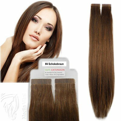Tape In / On 100% Echthaar Remy Hair Extensions Haarverlängerung 2,5g Tresse #4