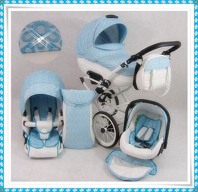Baby 3in1 Cleo Retro Travel System +CAR SEAT  PRAM  PUSHCHAIR  28 Colors