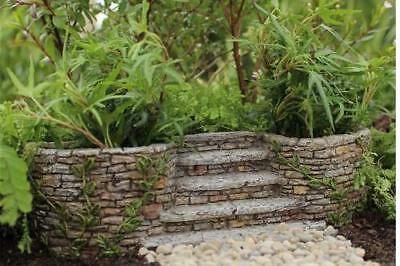 Miniature Dollhouse FAIRY GARDEN ~ Ivy Planters with Staircase ~ NEW