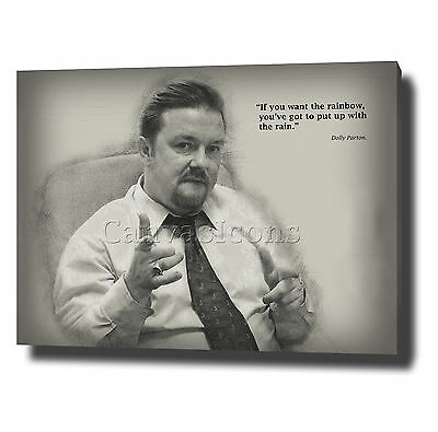 David Brent The Office Canvas Wall Art Print Poster Photo Quote Ricky Gervais