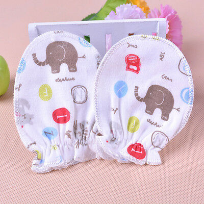 3Pair Baby Boys Girls Infant Newborn Anti Scratch Cotton Mitten Gloves Handguard