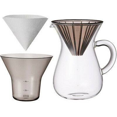 """1.1 Liter Carafe Coffee Set with 20 Filters by Kinto for """"Slow"""" Coffee"""