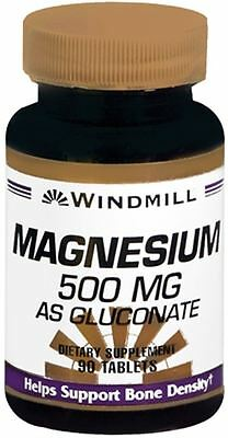 Windmill Magnesium 500 mg Tablets 90 Tablets (Pack of 9)