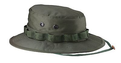 OD Green Camouflage Military Poly-Twill Boonie Hat Cap ROTHCO 5811 or FOX