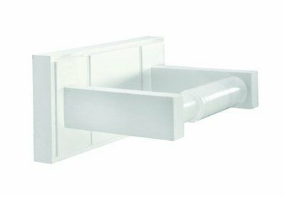 Croydex Maine Toilet Roll Holder FSC MDF White Wood Home Household Supplies New