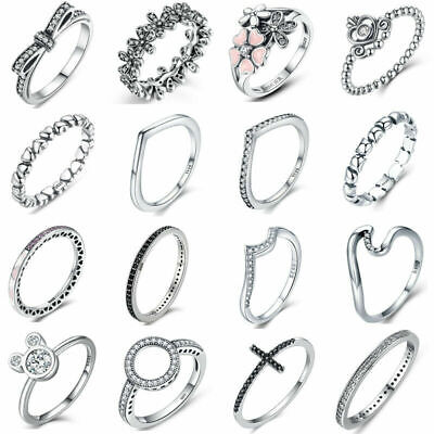 Women Solid Stacking 925 Sterling Silver Ring Knuckle Rings Band Size5-9 Fashion