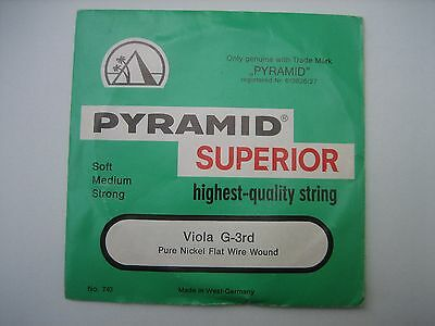 VIOLA G-3rd STRING [Single] PYRAMID SUPERIOR -EXCELLENT