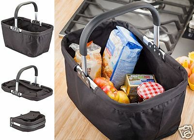 Judge New Foldable Collapsable Tote Market Shopping Basket Carry Bag TC359