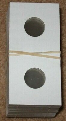 100 Lighthouse Cardboard 2x2 Self-Adhesive Holders 17.5mm Coins LTH KRS17.5//100