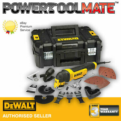 Dewalt DWE315KT 110v corded oscillating multi tool T-Stak box + 37pc  acc set