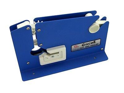 "T.R.U. Excell ET-605K Blue Metal Bag Sealing Tape Dispenser: 1/2"" in. wide"