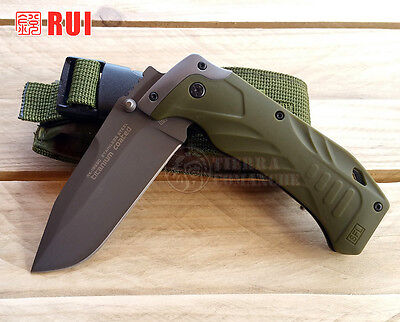 Navaja Tactica RUI Army Verde Knife Messer Coltello Couteau