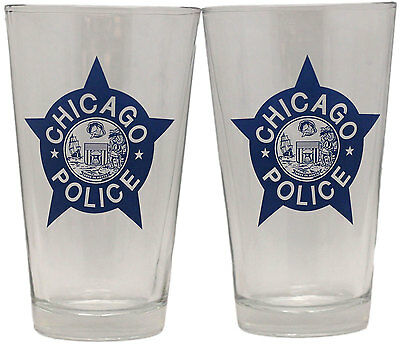 Chicago Police Star Pint Glass Set Of 2