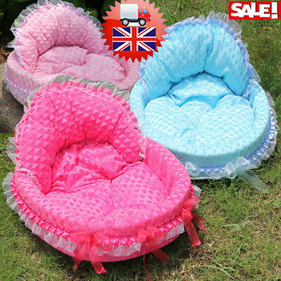 Soft Warm Comfy Dog Puppy Cat Teddy Pet Bed Slippers House Basket Cushion Mat