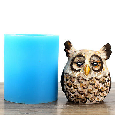 Owl Silicone Candle Mold Soap Molds DIY Craft Clay Chocolate Resin Plaster Mould