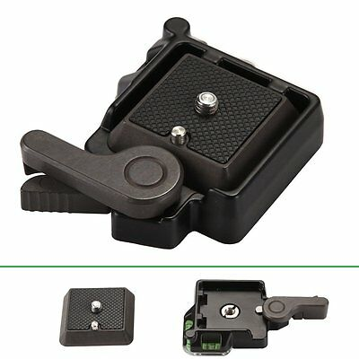 AU Clamp with Quick Release Adapter Plate For DSLR Tripod Ball Head Arca Benro