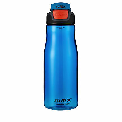 Avex Brazos Autoseal 32oz Plastic Water Bottle Ocean Blue for Sports Cycling