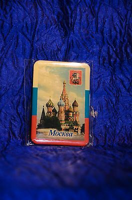 MOSCOW RUSSIA Fridge Magnet Basil's Cathedral Church on Red Square