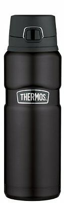 Thermos Stainless Steel King 24 Ounce Drink Bottle, Matte Black, New, Free Shipp