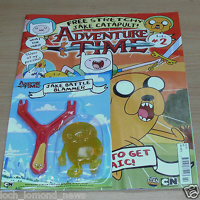 Adventure Time magazine comic Issue #2 + Stretchy Jake Battle Catapult