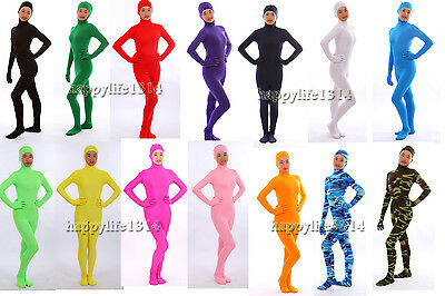 Adult Kid Adult NEW Face Open Lycra Spandex Zentai Party Costume Bodysuit Cats