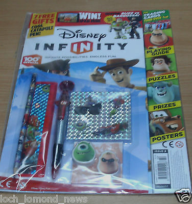 Disney Infinity official magazine comic Issue #2 + Guide, Posters, StationerySet
