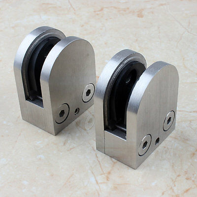 Casting Stainless Steel Glass Clamp Clips Bracket balcony balustrad Post Glass