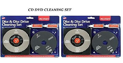 2 x Laser Lens Cleaner Cleaning Kit CD DVD Disc Drive Cleaner Cleaning Set