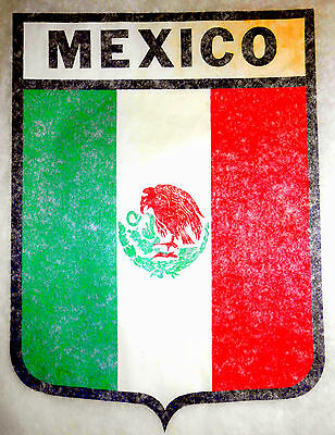 "Vintage 1974 Roach ""MEXICO"" Shield Iron-on Transfer"