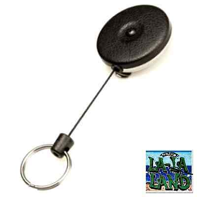 Retractable Key Tool Reel Holder Steel Belt Clip Chain Heavy Duty Split Ring 48