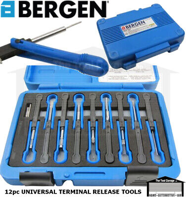 BERGEN Tools 12pc Universal Terminal Removal Release Connector Tool Kit NEW 6646