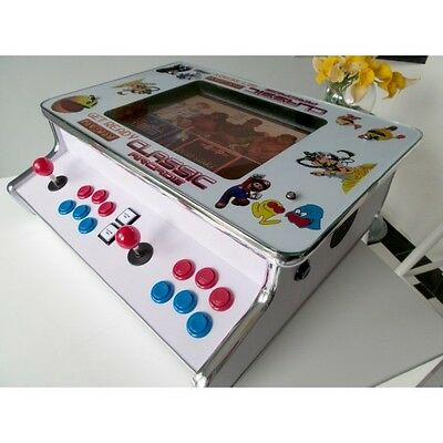 """NEW 15"""" Flat Bar/Table Top Arcade machine 512 JAMMA Games Street Fighter n MORE"""