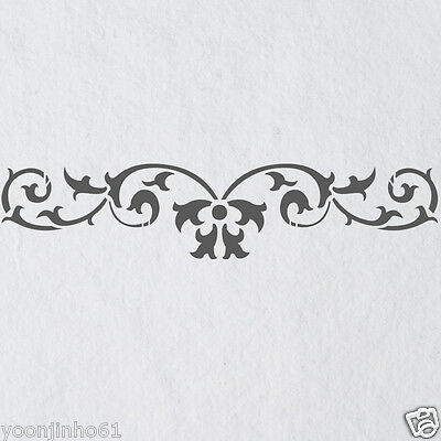 Wall Stencils Border Stencil Pattern 067 Reusable Template for DIY wall decor