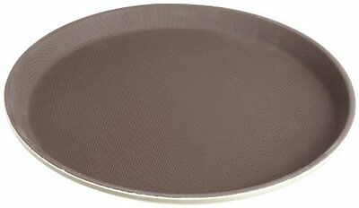 Stanton Trading Non Skid Rubber Lined 14-Inch Plastic Round Economy Serving Tray
