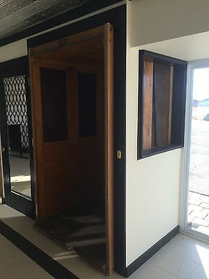 Antique Sedgwick Wooden Elevator Car From Grosse Pointe Michigan Mansion